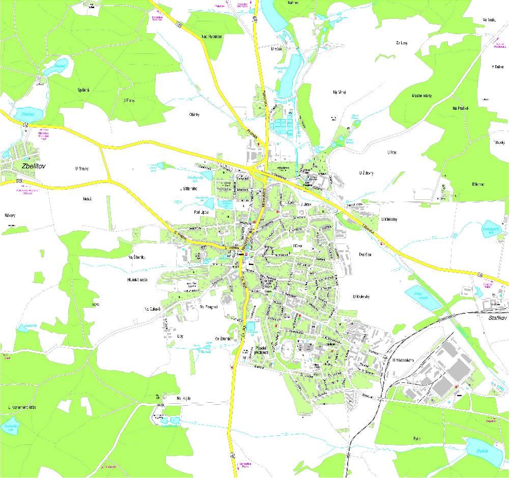 Mapa Mapa Milevska