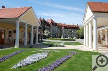 Piešťany, noblesní lázeňské město jak má být – lázeňské domy, luxusní hotely, udržované parky.