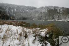 Plešné jezero je pozůstatkem působení ledovce