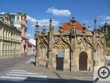 Kamenná kašna vznikla jako součást kutnohorského vodovodu kolem roku 1495