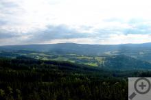 Výhled z hradu Kašperk