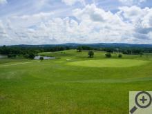 Výhled z restaurace golfového hřiště v Kestřanech