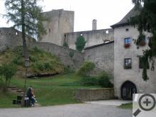 U hradu Landštejn překvapí především jeho rozlehlost a členitost