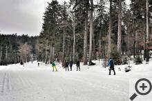 Když už nikde, tak v areálu Bretterschachten se pořád lyžuje