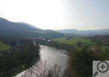 Výhled na řeku Ohři od zámku