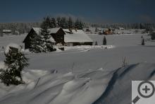 Z Filipovy Hutě je za dobré viditelnosti krásný výhled na Velký Roklan
