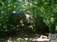 Bujná vegetace vrcholu Tisé skály neumožňuje bůhví jaký výhled