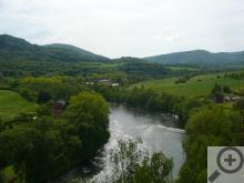 Cyklostezka Ohře se vine většinou po břehu stejnojmenné řeky