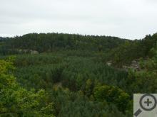 Pohled na Ralsko z vrchu Stohánku