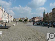 Telč - vedle církevních památek jsou tu nádherné měšťanské a šlechtické domy