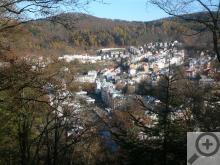 Pohled na Karlovy Vary z Karlovy vyhlídky