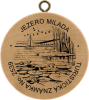 Turistická známka jezera Milada